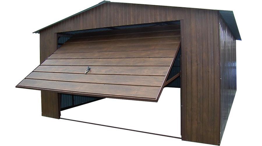 Garaże blaszane premium szeroki panel bram