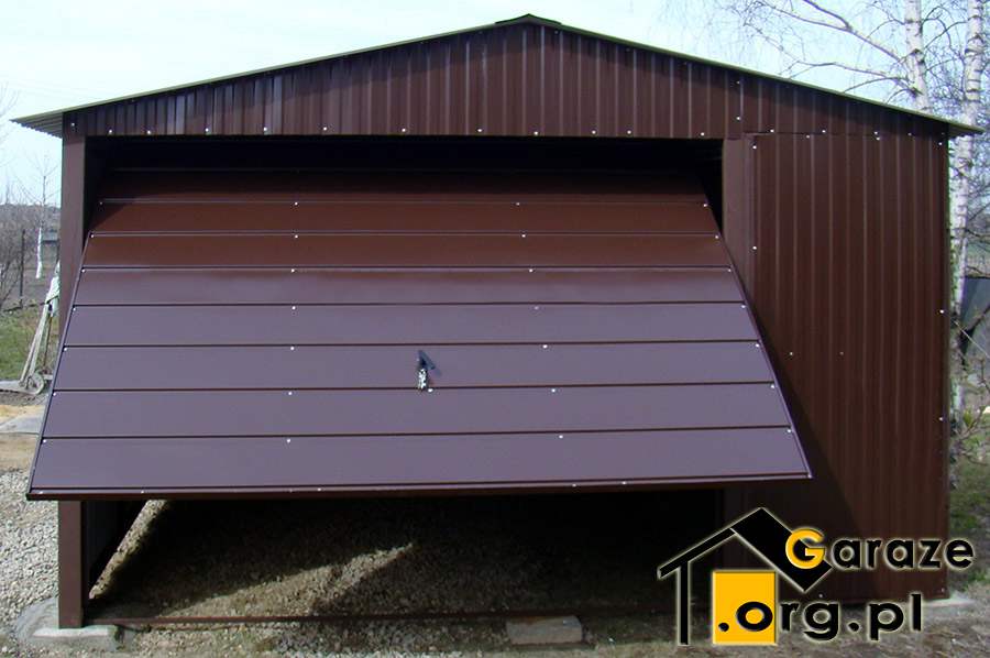 Najnowsze Garaż blaszany 4x6 brąz - Producent Stalgar JK08