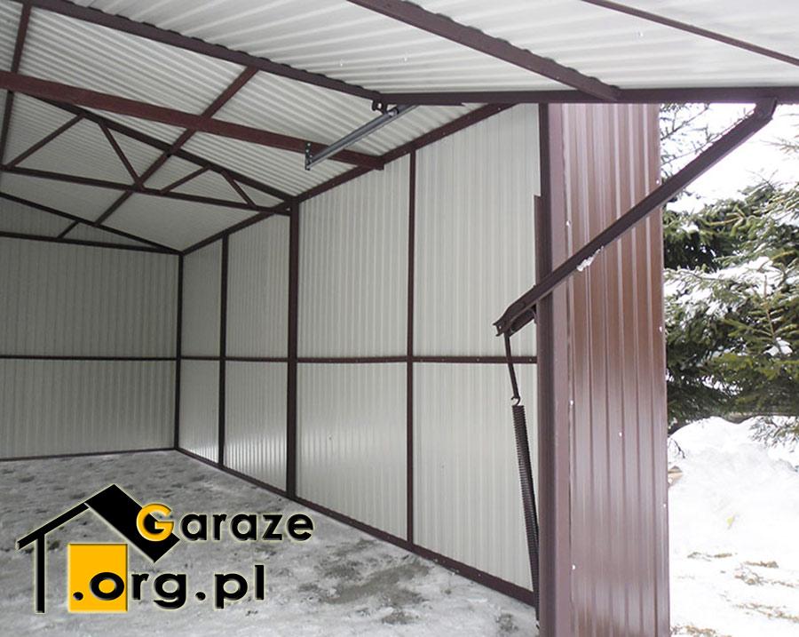 Dwuspadowy Garaż Blaszany 4x6 Brama Uchylna Producent Stalgar