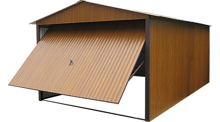 Garaż drewnopodobny segmentu premium złoty dąb 3x5