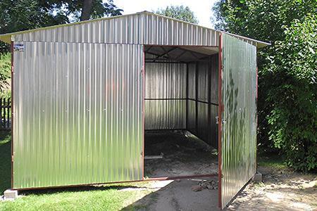 Garaże 3x5, 4x6 dach dwuspadowy brama dwuskrzydłowa