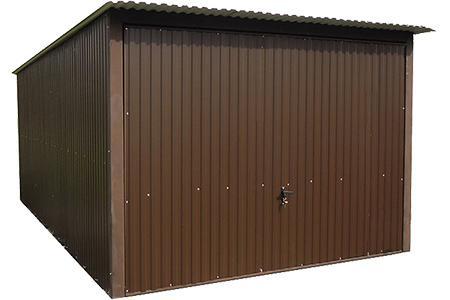 Garaże blaszane kolorowe jednospady brama uchylna