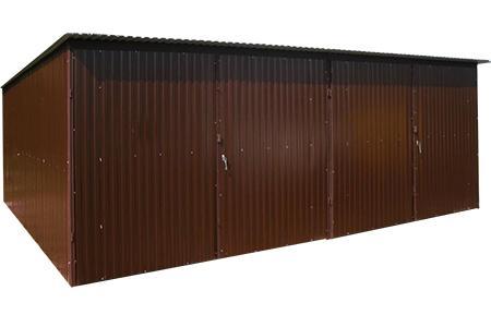 Garaże blaszane 6x6 i 6x5 kolor - bramy dwuskrzydłowe