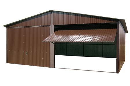 Garaże blaszane 6x5 z blachy kolorowej bramy uchylne