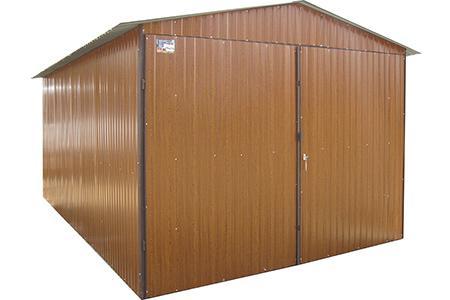 Garaże blaszane 3x5 RAL dwuspadowe brama na boki