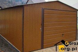 Garaże blaszane PREMIUM drewnopodobne Złoty Dąb 4x5
