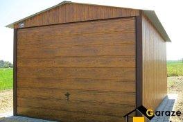 Garaże blaszane drewnopodobne 3x5 PREMIUM Złoty Dąb