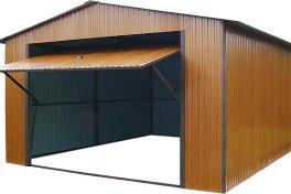 Garaż blaszany drewnopodobny premium złoty dąb 4x6