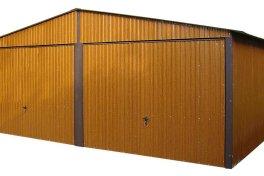 Garaż blaszany premium 6x5 drewnopodobny złoty dąb