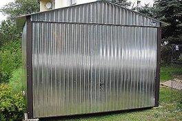 Garaże 3x5, 4x6 dach dwuspadowy brama uchylna