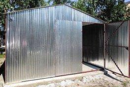 Garaże blaszane 6x5 i 6x6 dwuspady bramy dwuskrzydłowe